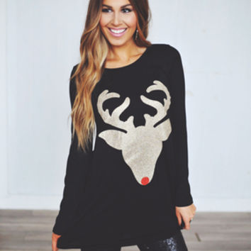 Reindeer Tunic- Black