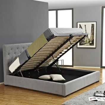 J&M Furniture Prague Storage Platform Bed - Beds at Hayneedle