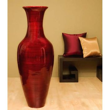 Mahogany Bamboo 47-inch Floor Vase and Branches | Overstock.com Shopping - The Best Deals on Vases