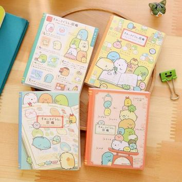 K42 Cute Kawaii Corner Animals 4 Fold Memo Pads Sticky Notes Paper Bookmark Stick Label Student Stationery School Office Supply