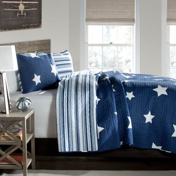 Star 3 Piece Quilt Set by Lush Decor - Bedding and Bedding Sets at Hayneedle