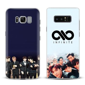 INFINITE KPOP Boy band Phone Case Cover Shell For Samsung Galaxy S4 S5 S6 S7 Edge S8 Plus Note 8 2 3 4 5 A5 A7 J5 2016 J7 2017