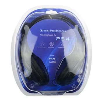 Wired Gaming Headset Earphones Headphones with Microphone Mic Stereo Supper Bass for Sony PS4 for PlayStation 4 Gamers