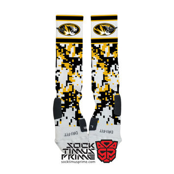 Custom Nike Elite Socks - Missouri Mizzou Custom Nike Elites - Mizzou Socks, Custom Elites, Missouri Tigers, Missouri Socks, Mizzou Football