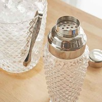 Diamond Glass Shaker + Ice Bucket Set