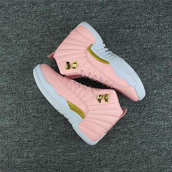 Air Jordan 12 Retro AJ 12 Pink/White Women Basketball Shoe