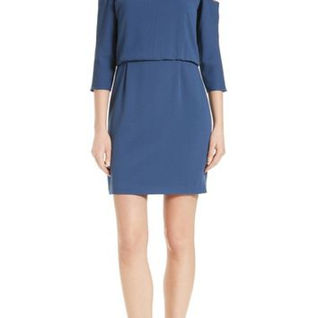 Tibi Savanna Cold Shoulder Sheath Dress | Nordstrom