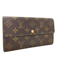 Authentic Louis Vuitton Monogram Portefeiulle Sarah Long Bifold Wallet /e267