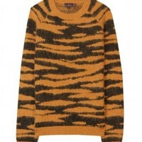 mytheresa.com -  Mulberry - ANIMAL PRINT ANGORA PULLOVER - Luxury Fashion for Women / Designer clothing, shoes, bags