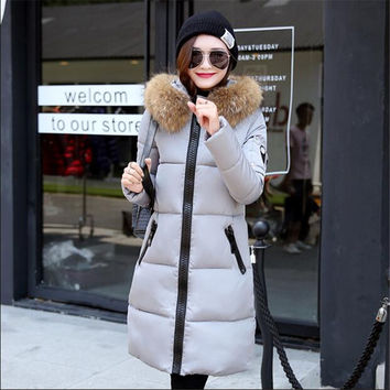 Large loose large size women in the long section of thick down jacket [9375063818]