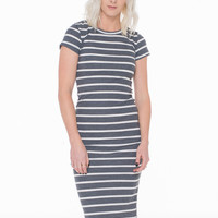 Sailor Fitted Striped Dress