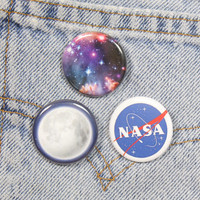 Full Moon 1.25 Inch Pin Back Button Badge