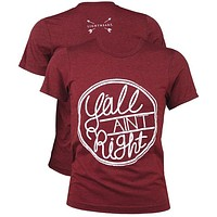 Southern Couture Lightheart Y'all Ain't Right Triblend Front Print T-Shirt