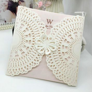 30Pcs Romantic Wedding Invitation Cards