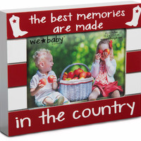 Country Baby Photo Frame