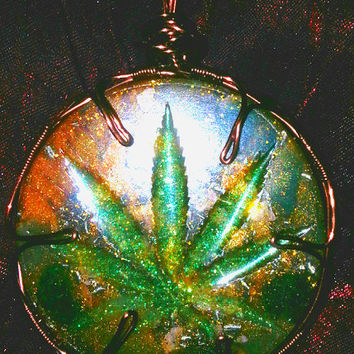 "Custom wire wrapped ""HIPPIE"" CANNABIS ORGONITE"