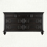 Harcourte 7 Drawer Dresser In Black | Arhaus Furniture