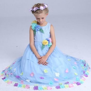 Childrens evening gowns cinderella dress formal dress baby princess party dresses for teenagers child cinderella costumes girls