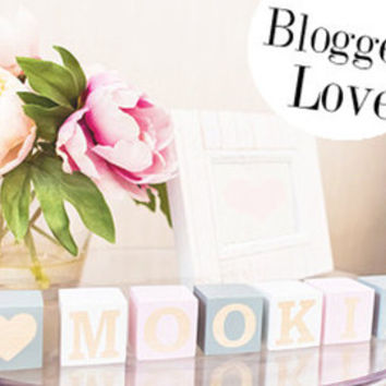 Name blocks - wooden baby name blocks - pine cubes - name nursery decor
