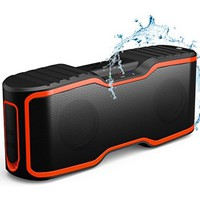 AOMAIS Sport II Portable Wireless Bluetooth Speakers 4.0 with Waterproof IPX7,20W Bass Sound,Stereo Pairing,Durable Design for iPhone /iPod/iPad/Phones/Tablet/Laptops/Echo dot,Good Gift(Orange) - Walmart.com