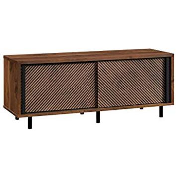 "Sauder 420833 Harvey Park Entertainment Credenza, for Tvsup To 60"", Grand Walnut Finish"