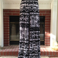 Tribal Palazzo Pants Black & White