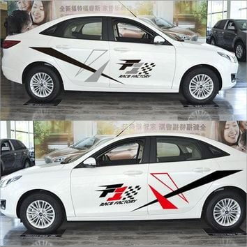 2 Pieces Auto Racing Car Sticker Exterior Decorative Cool Stickers and Decals for Automobile Accessories