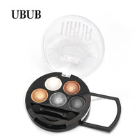 TOP Quality UBUB 5 Color Professional nude eyeshadow palette makeup matte Eye Shadow palette Make Up Glitter Pigment eyeshadow
