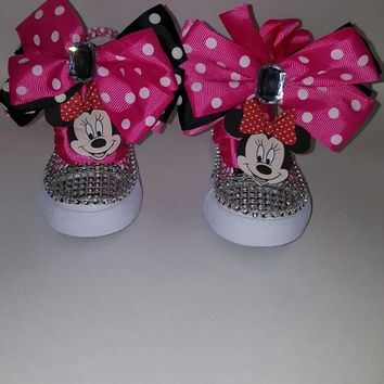 minnie mouse birthday shoe converse polka dots
