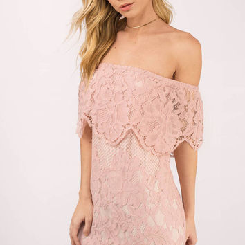 Play For Keeps Lace Shift Dress