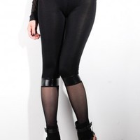 Women's Stocking Leggings (Black) | Costume Dept | 80's Purple