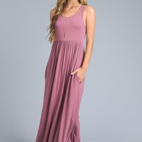 Racerback Maxi Dress  - Mauve