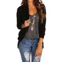 Black Cocoon Cardigan