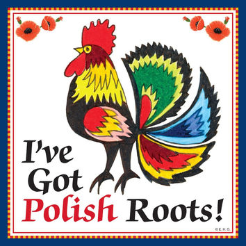 Ceramic Wall Plaque: Polish Roots