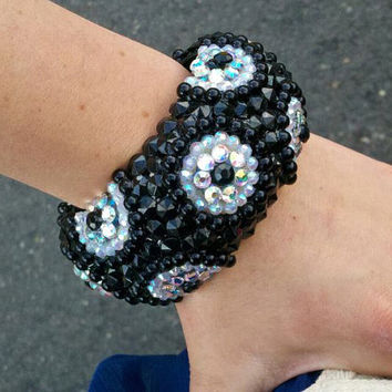 black spiky bangle by Sugar and Speisz on Etsy