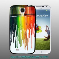 Tab Dripping colors crayon - design for Samsung Galaxy S4 Black case