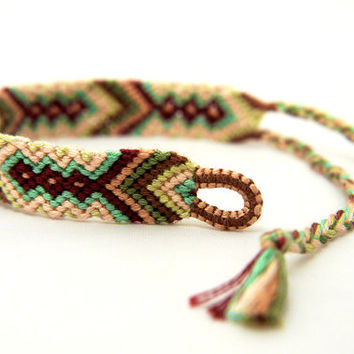 Handwoven Thin Micro Macrame Friendship Bracelet - Custom Order Available - Great gift for Best Friends and Teenagers