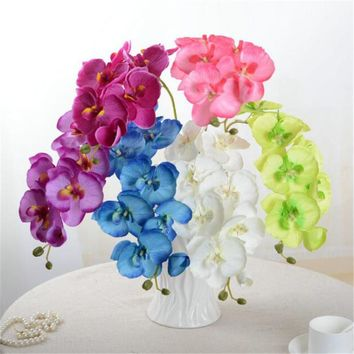 ONE Lifelike Artificial Orchid Phalaenopsis Flowers Silk Butterfly Orchid