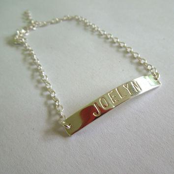 Personalized Sterling Silver Bracelet