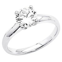 14k White Gold Wedding Engagement Ring