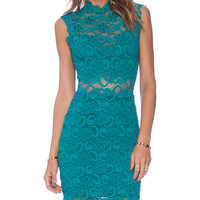 Nightcap Dixie Cut Out Mini Dress in Green