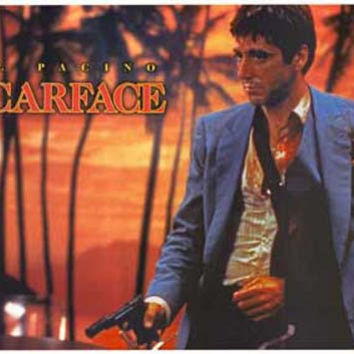 Scarface Palms Al Pacino Movie Poster 24x36