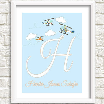 Personalized Boy Nursery Print