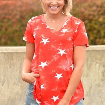 Oh My Stars Top - Red