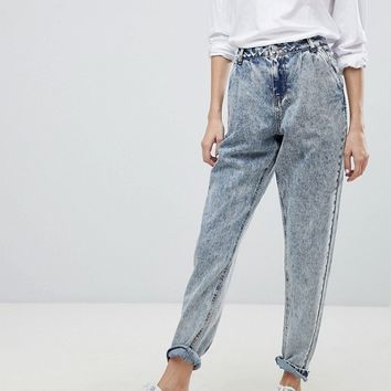 Noisy May Acid Wash Mom Jeans at asos.com