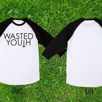 Limited wasted youth Baseball T shirt, Raglan T shirt, Unisex T shirt, Adult T shirt