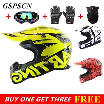 Buy one get three! New Design Motorcycles Protective Gears Dirt Bike Racing Motocross Helmets Cross Country Motorcycle Helmet