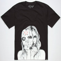Rook Hockey Mask Mens T-Shirt Black  In Sizes