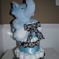 3 Tier baby boys Elephant diaper cake
