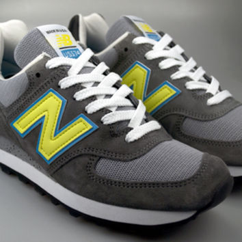 New Balance MADE IN USA® US574CY - Grey, Neon & Blue
